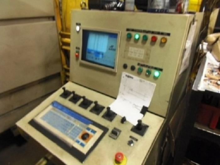 VERNET BEHRINGER FP600 3 HEAD CNC DRILL LINE, 43' INFEED, 40' FRONT CONVEYOR