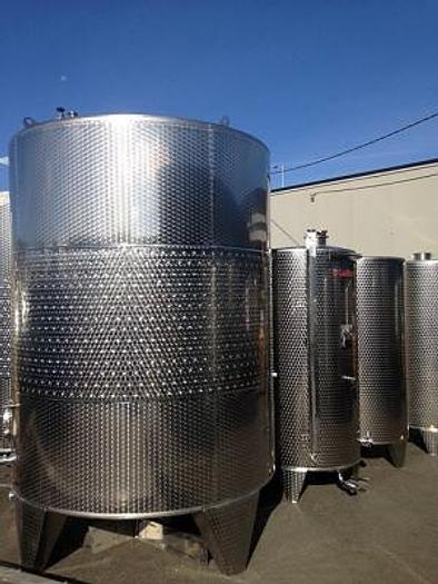 New Stock Letina 2310Gal/8750L Closed Top Jacketed Storage Tank