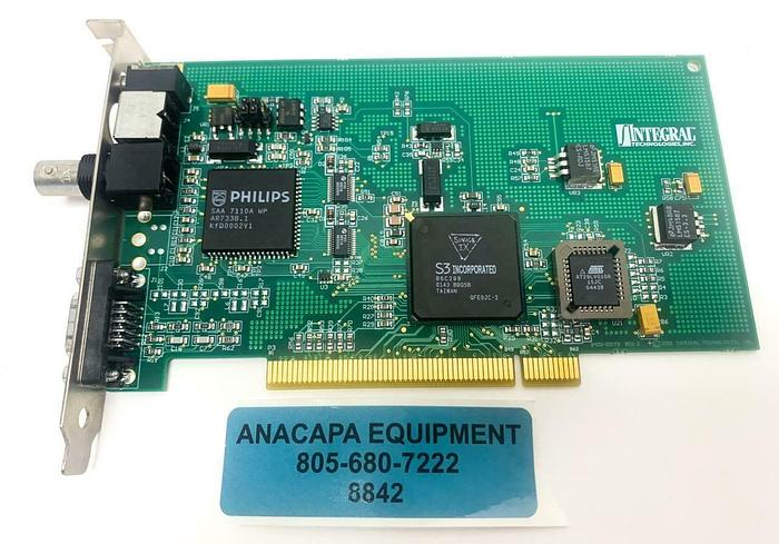 Used Integral Technologies 9400-00173 REV C Video Capture Card (8842)W