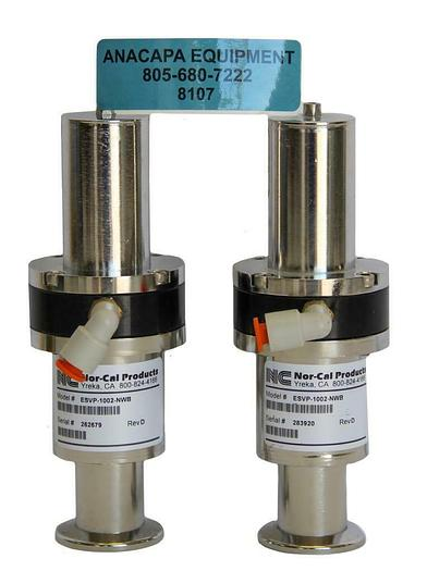 """Used Nor-Cal Products ESVP-1002-NWB, 1"""" Pneumatic Angle Valve NW-25 Lot of 2 (8107)W"""