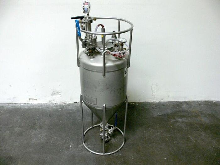 Used Alloy Products 20 Liter Conical Process Vessel 120PSI @ 400F w/ Tempco Probe