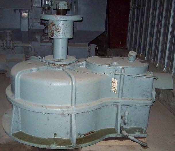 Used 75 HP @1,770 RPM 60:1 FRENCH OIL MILL Right Angle Power Transmission Gear Reducer