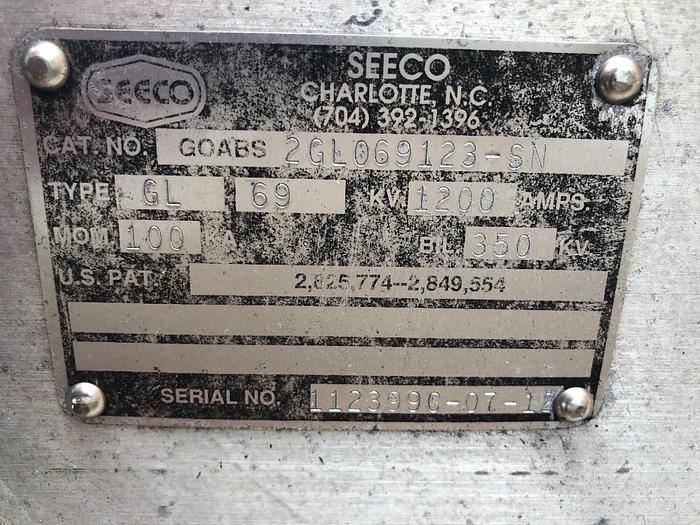 SEECO 69 kV 2 Way Switch