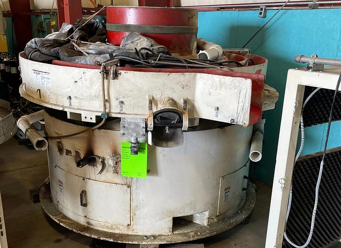 Used ROSLER R 150/15 SE MULTI CHANNEL CONTINOUS VIBRATORY METAL FINISHING MACHINE
