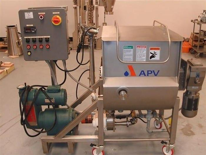Used 8 CU. FT. APV RIBBON BLENDER – S/S – JACKETED (#9239)