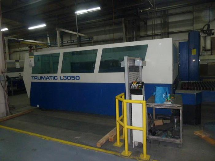 Used 2004 5000 Watt Trumpf CNC Laser Cutting Cell/System