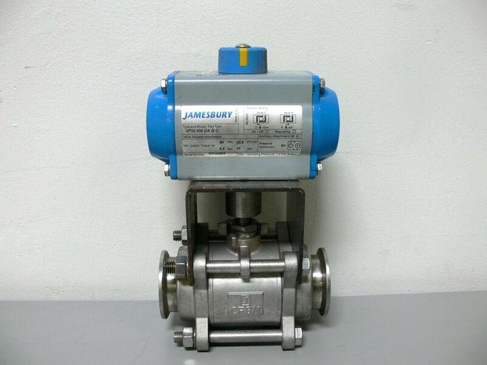 "Used JAMESBURY VPVL100 DA B C Double Opposed Piston Actuator 2"" SS Ball Valve"