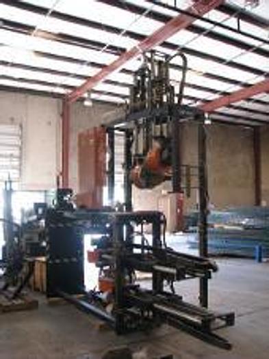 250 Ton Rutil RSO 1200/250 Horizontal Rubber Injection Press; S/N 130/322