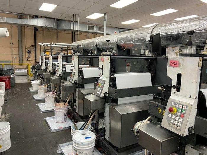 "Used 2012 Gonderflex Model GFLX 2800 (10) Unit Flexo Press System 28"" Width"