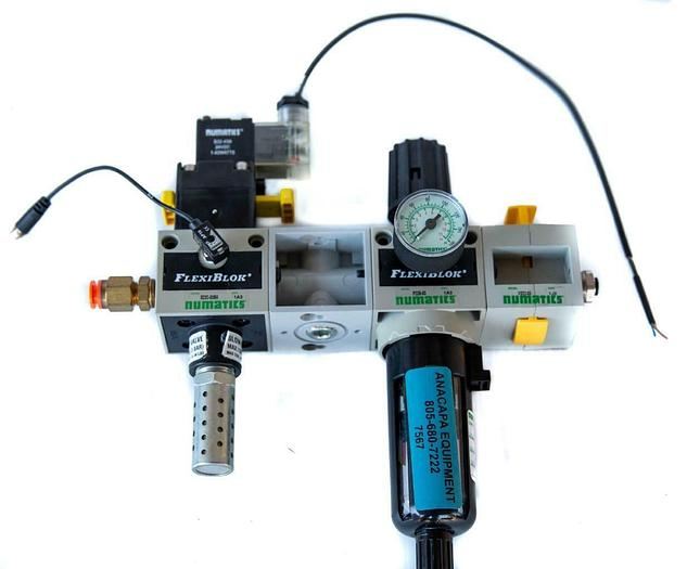 Used Numatics FlexiBlok S22C-03BK Solenoid Quick Exhaust, P22B-03, VS22-03 USED (7567