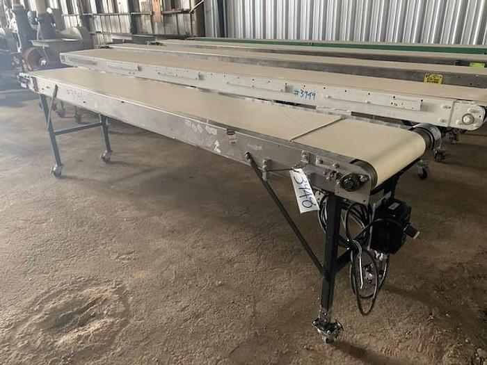"Used 11' Long x 16""Wide Portable Sanitary Flat Belt Conveyor"