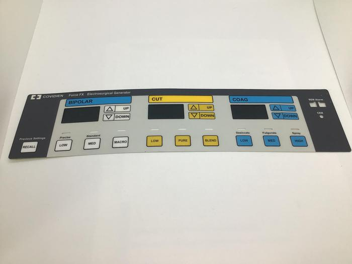 Valleylab Force FX-FXC Electrosurgical unit front panel sticker Fxc