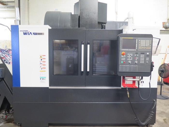Used 2017 Hyundai WIA KF5600 CNC Vertical Machining Center  w/ Hyundai WIA Fanuc i-Series Controls #5842
