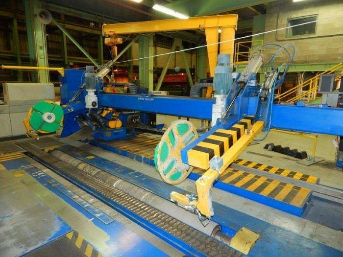 """Used 150"""" VOITH SULZER ROLL WRAPPER 40 RPH 60"""" MAX DIAMETER"""