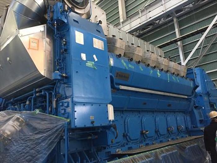 Used 7.2 MW 2021 New Rolls Royce B32:40V16A HFO Generator