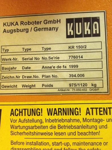 KUKA TYPE KR150/2 6 AXIS CNC ROBOT