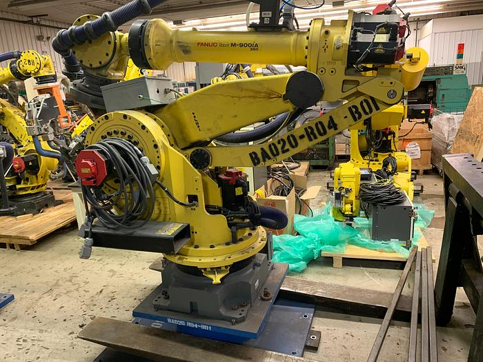 Used FANUC M900iA/350 6 AXIS CNC ROBOT WITH R30iA CONTROLLER 350KG X 2650mm REACH