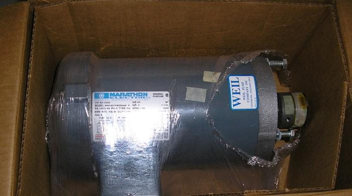 2 HP Marathon Motor (New Surplus) Cat. # C222: Model # 9VH145TTFR5334 AF P: Frame # 145TC: 2 HP/60/ 208-230/460 :190/380 RPM: 1730/1430