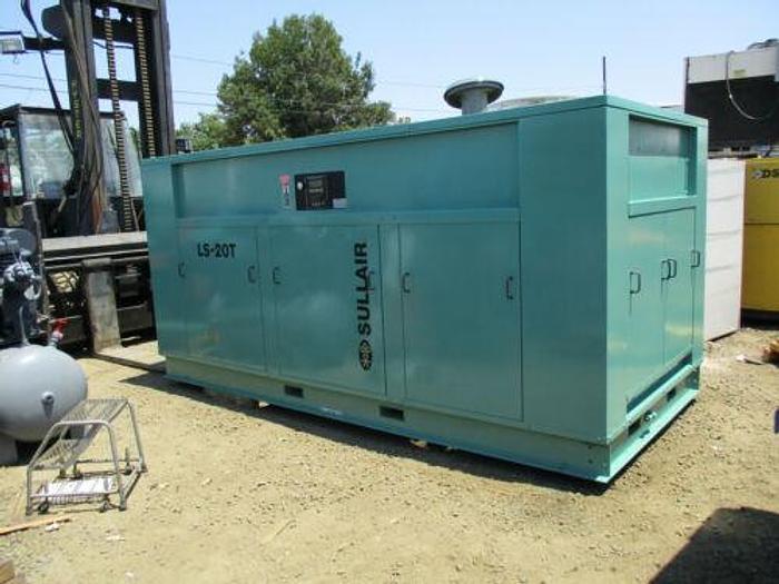 Used SULLAIR MODEL LS20T - 400/350/960 SCREW COMPRESSOR 400 H.P. 350 PSI. 960 CFM