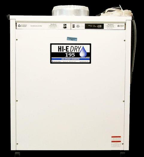 Used Therma-Stor HI-E Dry 195 4030060 Dehumidifier 110-120 VAC 12 Amps 60 Hz (7098) R
