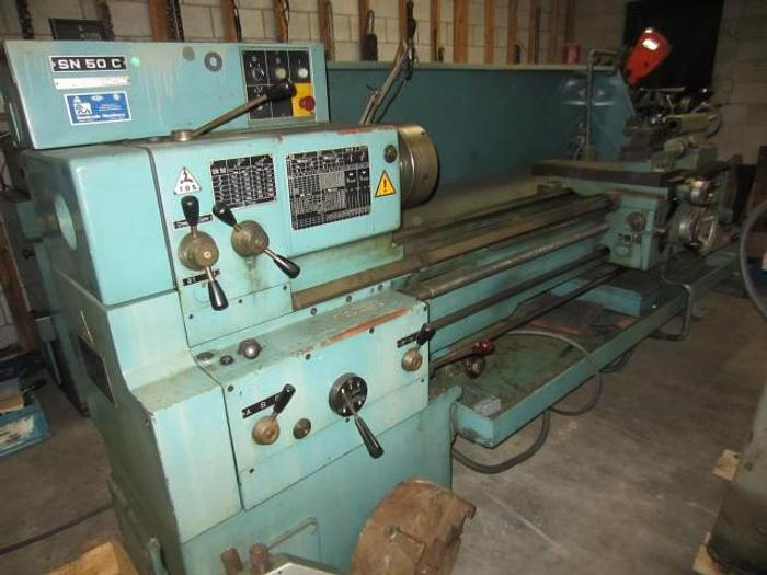 "Used TOS SN50C/2000, 20"" x 80"" Engine Lathe"