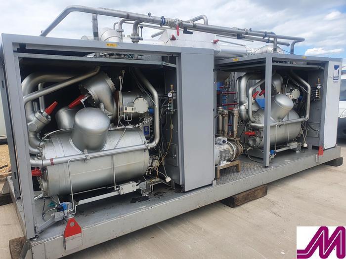 Used 2009 Sabroe SabCube Skid Mounted Ammonia Refrigeration Plant
