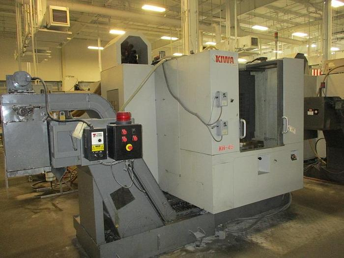 Used 2005 Kiwa KH-45G 4 Axis Two-Pallet Horizontal CNC Machining Center