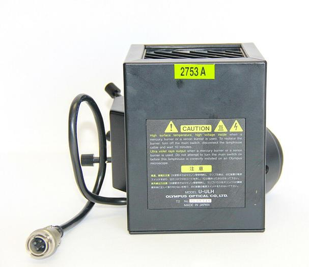 Used Olympus Optical U-ULH Lamp Housing & U-ULS100H Halogen Socket 100W (2753A)