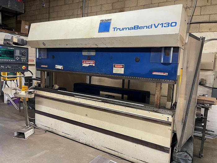 Used 143 TON X 10', TRUMPF,  TRUMABEND V130, CNC PRESS BRAKE