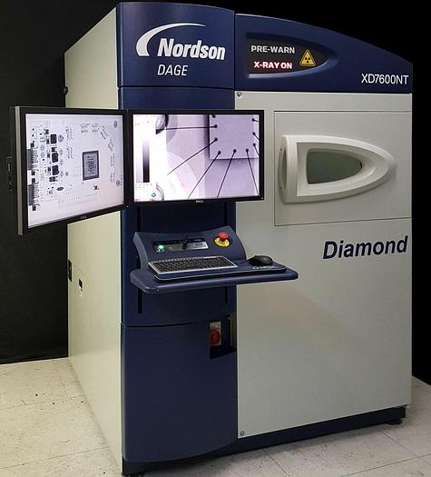 Used 2011 Nordson DAGE XD7600NT Diamond CT X-Ray NT100 HP 10W, 100nm feature
