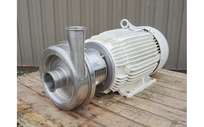 "Used USED CENTRIFUGAL PUMP, 3"" X 2.5"" INLET & OUTLET, STAINLESS STEEL, SANITARY"