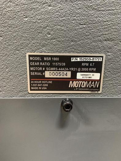 MOTOMAN MSR 1000 POSITIONER 1000 KGF CAPACITY