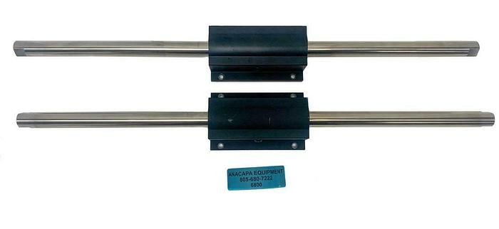 "Used Thomson Linear Rail, Super Smart Pillow Block W/ 22"" Rods (6800) W"