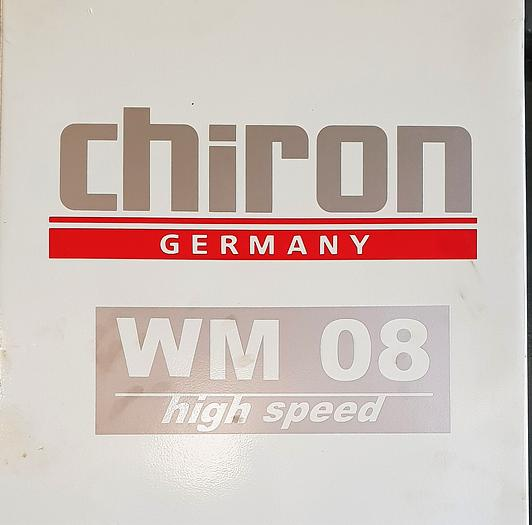 CHIRON WM08 HIGH SPEED VERTICAL MACHINING CENTERS