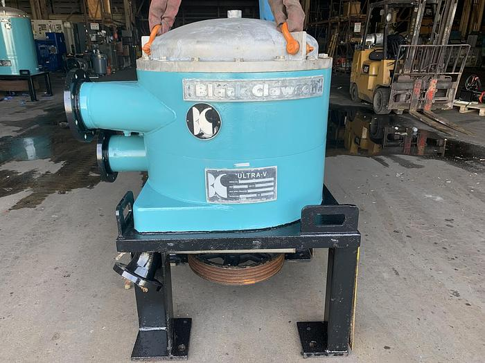 Used BLACK CLAWSON UV-100 PRESSURE SCREEN STAINLESS STEEL W/ MOTOR 2 OF 3