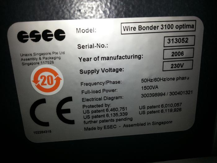Used ESEC 3100 Optima Bonder