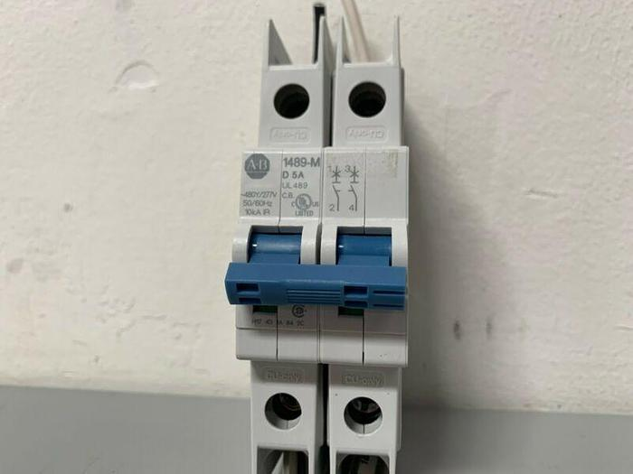 Used Allen-Bradley 1489-M D 5A Circuit Breaker 2 Pole Unit