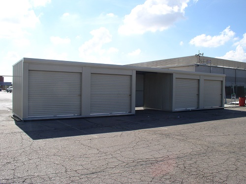 10' x 20' Janus International Portable Storage Building/Shed; (2) 9' x 9' roll-up side doors