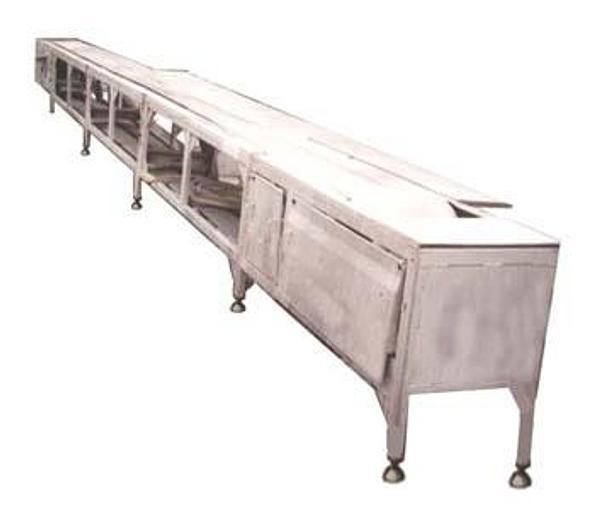 Używane Stół rozbiorowy z taśmą nierdzewną, typ SANDWIK, konstrukcja aluminiowa
