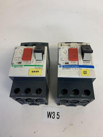 Used SCHNEIDER ELECTRIC GV2ME07 IEC Manual Starter (LOT OF 2) FAST SHIPPING!