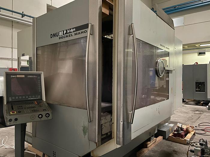 Gebraucht 5-Seiten Universal CNC Bearbeitungszentrum Deckel-Maho DMU 80P