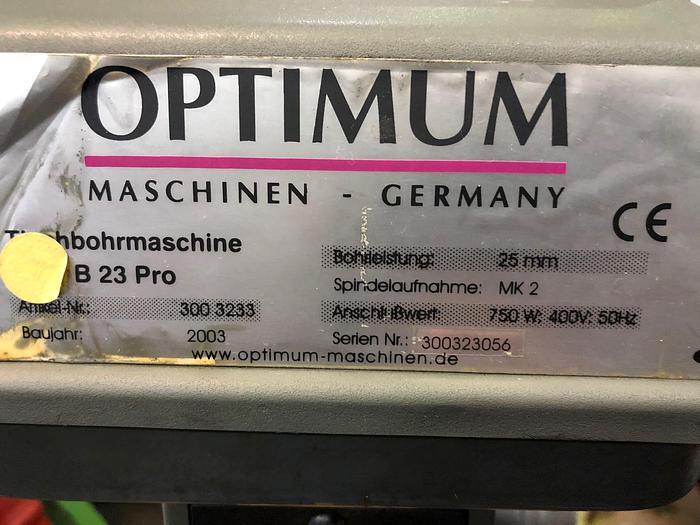 2003 Tischbohrmaschine OPTIMUM B 23 PRO