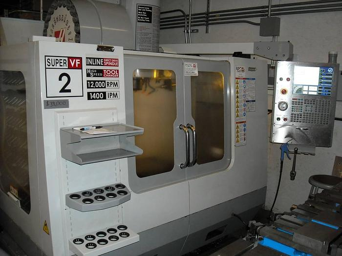 Used 2007 Haas VF-2SS 12000RPM Spindel, Ready for 4th Axis