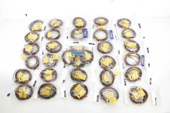 Omega TECK10-2 10' Sensor Cable Thermocouple Plug to Receptor Lot of 32 NEW 7421