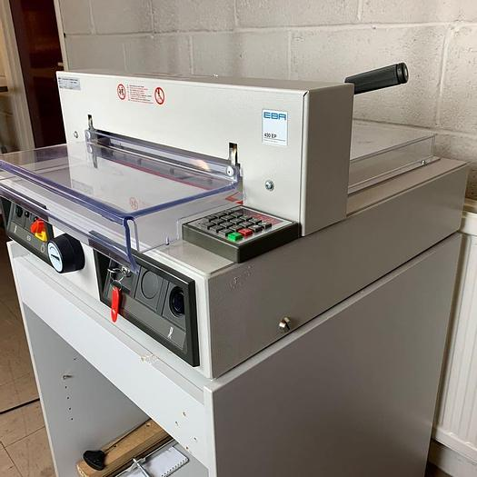Used Pre-owned EBA 430EP Electric Programmable Guillotine With Cabinet