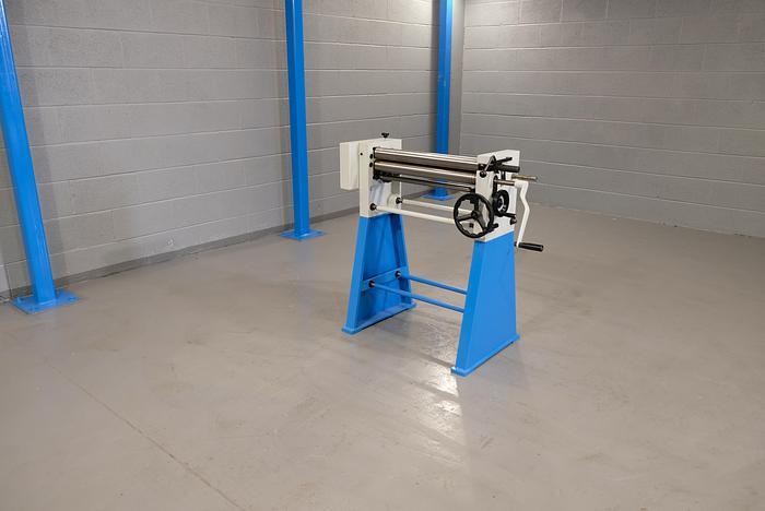 MACH-ROLL 600mm x 60mm geared bending rollers