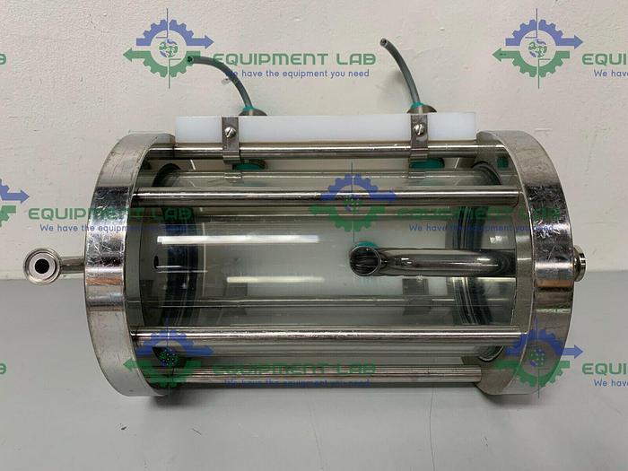 "Used Millipore K400-130BT Chromatography Column w/ 3/4"" & 1/2"" Sanitary Fittings"