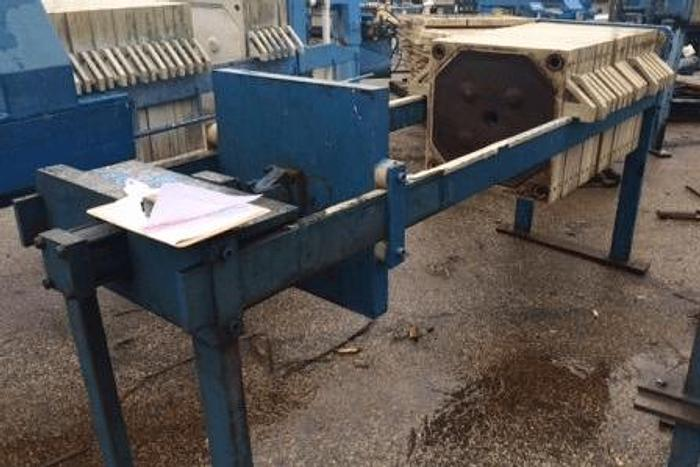 Used 6 CU. FT. MET-CHEM FILTER PRESS – POLYPRO – 630 MM AUTOMATIC CLOSURE
