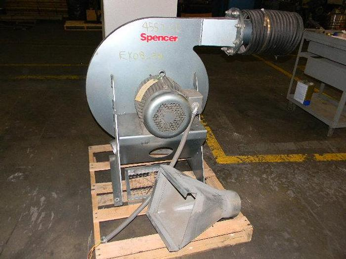"""Used 7.5hp centrifugal Air ring blower model 1205-SS s/n 808165H06 6""""intake/exhaust"""