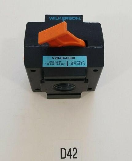 *NEW* Wilkerson V28-04-0000 Safety Lockout 150PSIG (10,3 BAR) 150°F + Warranty!